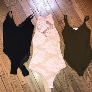 3 Body Suits 💁🏻‍♀️🍁 Sexy one new with tags